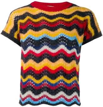 Marni zig zag knitted top
