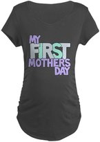 CafePress - First Mother's Day - Cotton Maternity T-shirt, Cute & Funny Pregnancy Tee