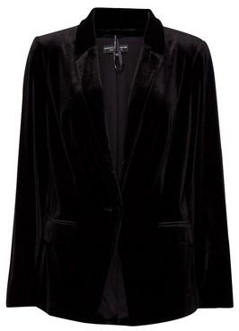 Dorothy Perkins Womens Black Velvet Tailored Jacket, Black