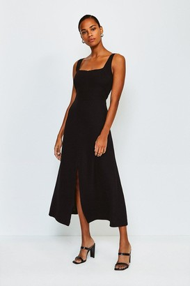 Karen Millen Panelled Fluid Midi Dress