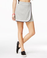 The Edit By Seventeen Juniors' Varsity Stripe Faux Wrap Skirt, Created for Macy's