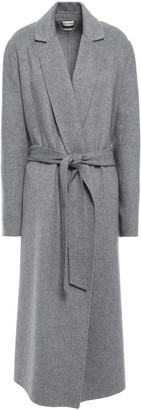 By Malene Birger Tie-front Brushed Wool-blend Coat