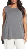 Eileen Fisher Stretch Tencel ® Lyocell Jersey Tank (Plus Size)