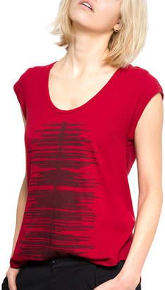 June 7.2 Sleeveless Edie Linen-Blend T-Shirt