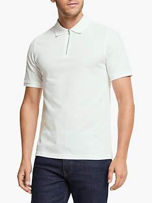 J. Lindeberg Fenton Clean Pique Zip Collar Polo Shirt