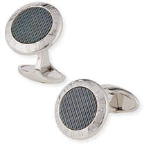 Dunhill AD Coin Cuff Links with Mother-of-Pearl Insets