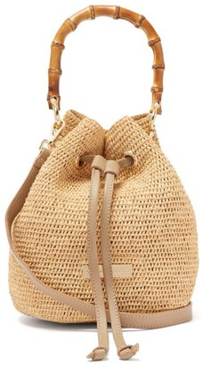 Heidi Klein Savannah Bay Mini Bamboo-handle Raffia Bag - Womens - Beige