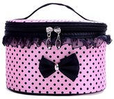 DZT1968® Handle Large Cosmetic Bag Travel Makeup Organizer Case Holder (Pink)