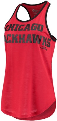 Game Time G Iii Women's G-III 4Her by Carl Banks Red Chicago Blackhawks Tank Top