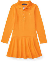 Ralph Lauren 2-6X Stretch Long-Sleeve Polo Dress