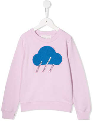 Alberta Ferretti Kids TEEN embellished cloud print sweatshirt