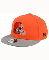 New Era Kids' Cleveland Browns Heather 9FIFTY Snapback Cap