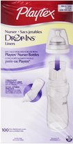 Playtex Drop In Liners for Nurser Bottles - 8 oz. 100-Count (Pack of 1)
