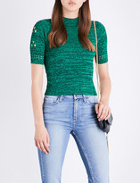 Sandro Cut-out knitted top