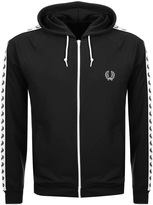 Fred Perry Taped Hooded Track Top Black