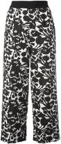 I'M Isola Marras floral print cropped trousers - women - Polyester/Spandex/Elastane/Acetate/Viscose - 42