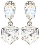 Oscar de la Renta Shield Crystal-embellished Earrings