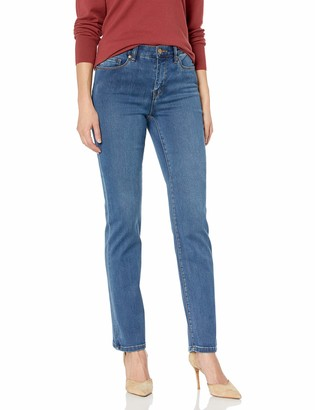 Tribal Women's Misses Straight Five-Pocket Dream Jean-RETROBLUE 12