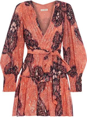 Ulla Johnson Noemi Metallic Fil Coupe Silk And Lurex-blend Mini Dress