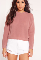 Missguided Crew Neck Sweater Pink