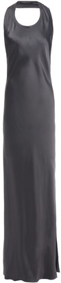 Helmut Lang Asymmetric Open-back Satin Maxi Dress