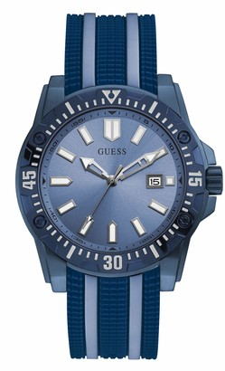 GUESS Men's Analog Quartz Watch with Silicone Strap