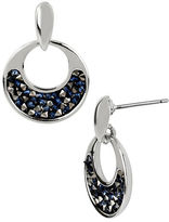 Kenneth Cole New York Silvertone Hoop Earrings with Faceted Bead Decoration