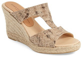 Patricia Green Snake Embossed Leather Wedge Sandal
