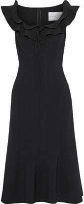 Carolina Herrera Ruffle-trimmed Wool-blend Dress