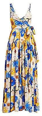 Borgo de Nor Women's Gazella Silk Wrap Gown