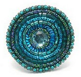Ring Seed Bead And Sequin Confection (Sea Blue) Made With Glass by JOE COOL