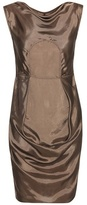 Rick Owens Ruched satin mini dress