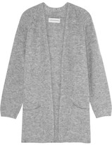 By Malene Birger Belinta Brushed Ribbed-knit Cardigan - Gray