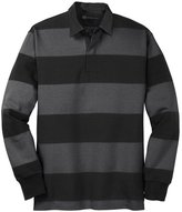 Mato & Hash Classic Long Sleeve Rugby Polo - MH - Green/White MHST301SA M