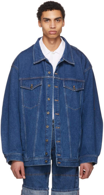 Y/Project Navy Oversize Denim Jacket