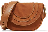 Diane von Furstenberg Bullseye Mini Nubuck Shoulder Bag - Tan