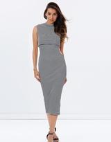 GUESS Nolan Stripe Midi Dress
