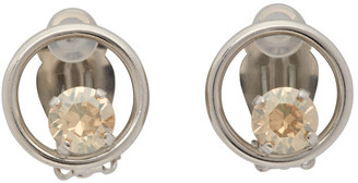 Justine Clenquet Silver Suzanne Clip-On Earrings