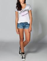 Hydraulic Roll Cuff Womens Denim Shorts
