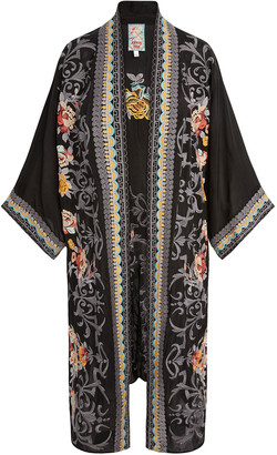 Johnny Was Mayflower Embroidered Long Kimono