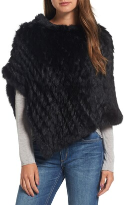 La Fiorentina Genuine Rabbit Fur Poncho
