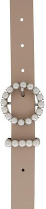 Miss Shop Circle Pearl Buckle Belt