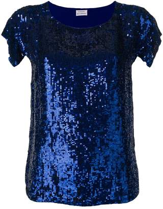P.A.R.O.S.H. blue sequin top