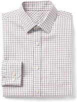 Gap Wrinkle-resistant tattersall standard fit shirt