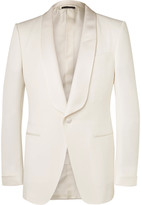 Tom Ford - Cream O'connor Slim-fit Grosgrain-trimmed Wool And Mohair-blend Tuxedo Jacket
