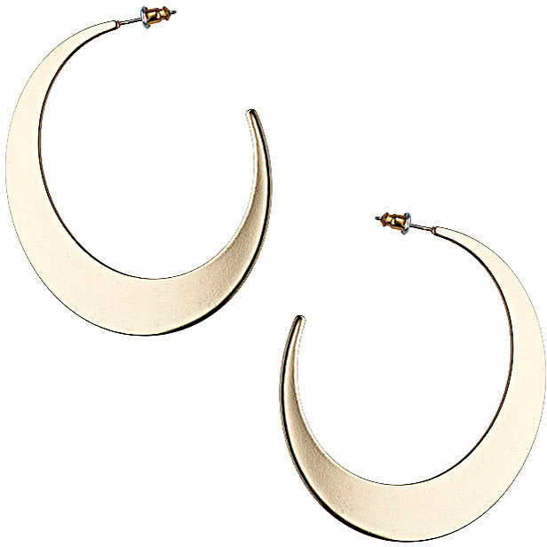Topshop Half Semi Circle Flat Hoop Earrings