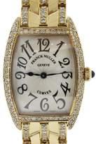 Franck Muller Curvex 1752 QZ 18K Yellow Gold 24mm Womens Watch