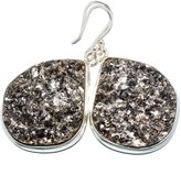 """Ana Silver Co. Ana Silver Co Rough Astrophyllite 925 Sterling Silver Earrings 1 3/4"""" - Handmade Fashion Gemstone Jewelry EARR350406"""