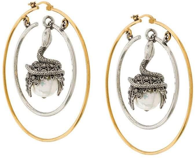 Alexander McQueen drop hoop earring