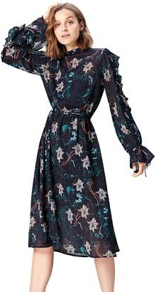 Find. Amazon Brand Women's Midi Floral Boho Dress